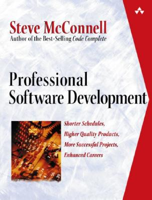 Professional Software Development By McConnell, Steve