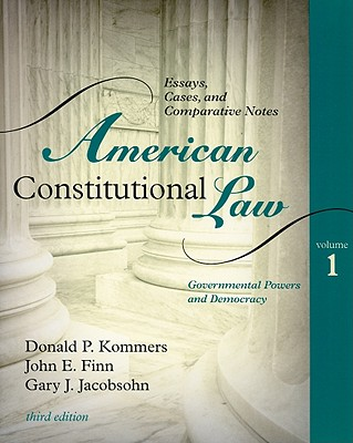 American Constitutional Law By Kommers, Donald P./ Finn, John E./ Jacobsohn, Gary Jeffrey